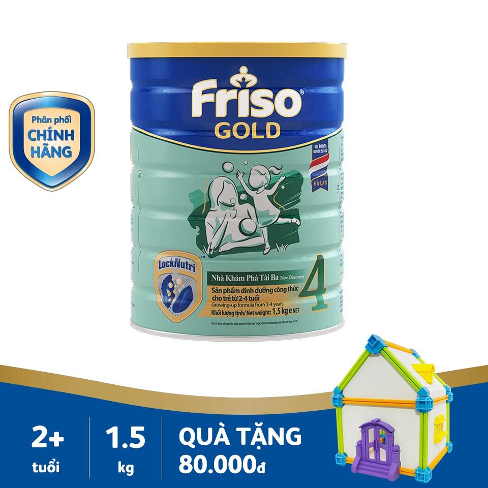 Sữa Friso Gold 4 lon 1,5kg tặng quà