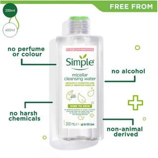 Nước tẩy trang Simple Kind to Skin Micellar Cleansing Water 200ml thumbnail