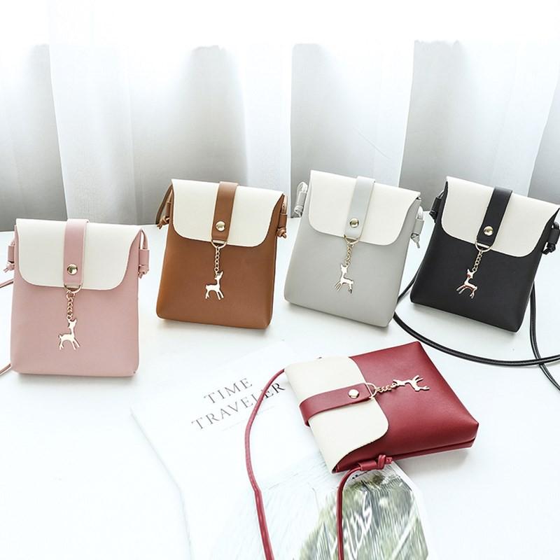 Túi đeo chéo, túi đựng điện thoại mẫu mới khóa hình hươu-TXN64 shop donghogiare88