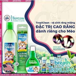 Gel vệ sinh răng miệng đánh bay mảng bám cao răng và hôi miệng cho Mèo TropiClean -Fresh Breath Clean Teeth Oral Care Ge thumbnail