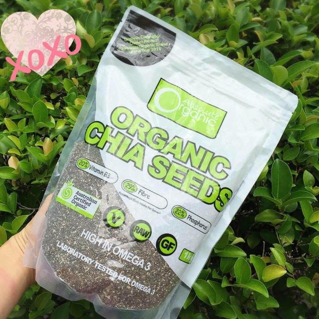 Hạt Chia Seeds Absolute Organic Úc 1kg