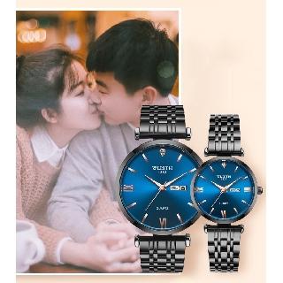 Đồng hồ nam nữ Wlisth dây thép sang trọng thumbnail