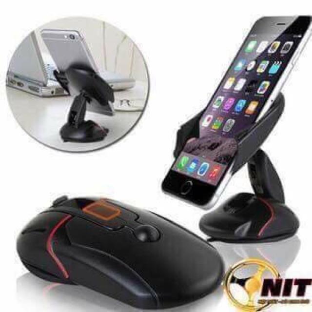 Kẹp điện thoại trên ô tô hình con chuột