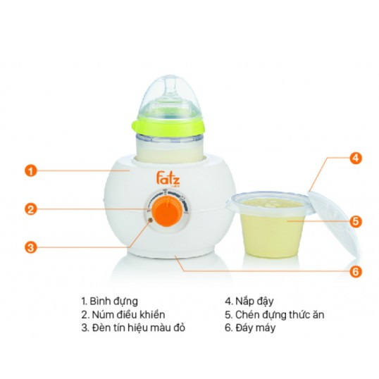 Máy FB3027SL Hâm sữa cổ siêu rộng mới dùng mọi loại bình