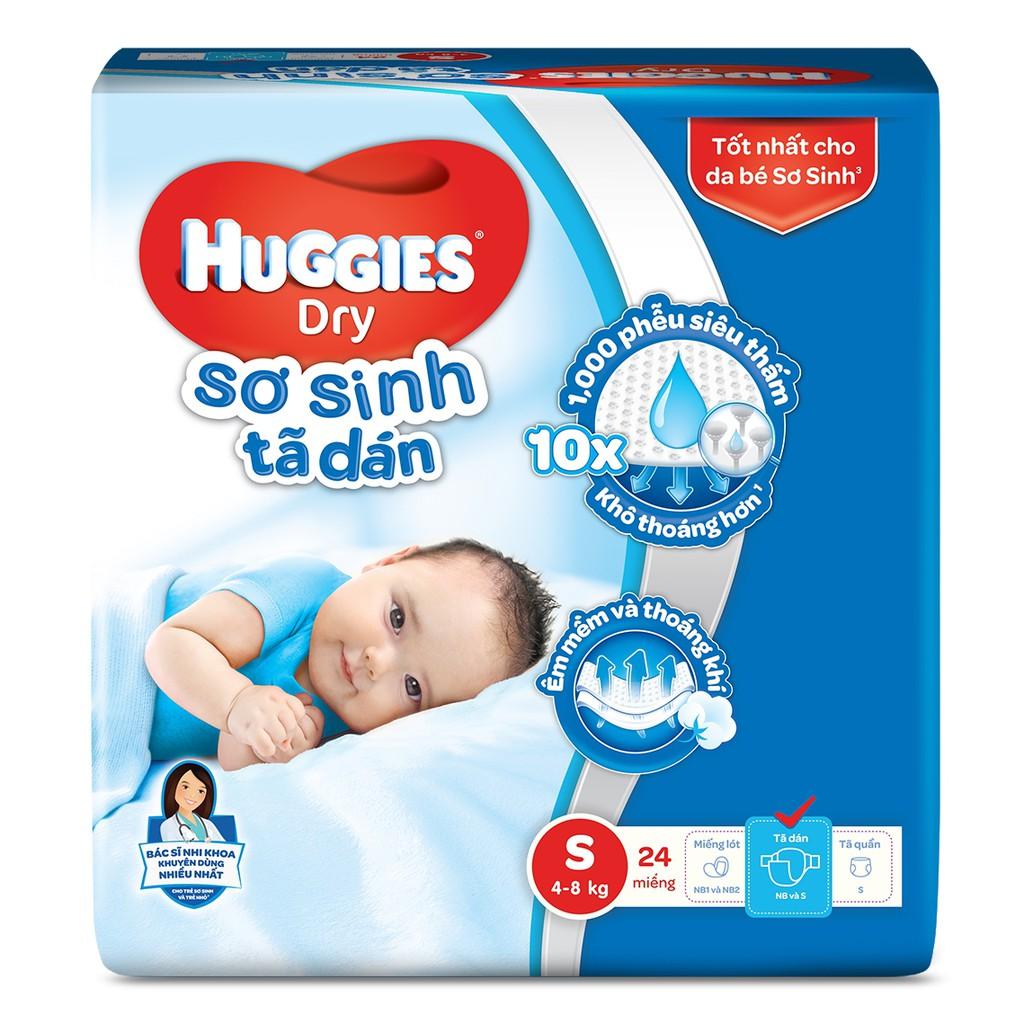 Tã dán Huggies Dry-Economy S, 4-8kg, 30 miếng