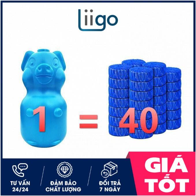 Viên thả bồn cầu hình con lợn (Liigostore)