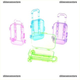 (shinesense)Random Color Plastic Travel Train Suitcase Luggage For Doll