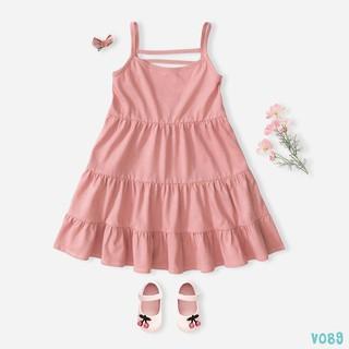 [Mã FABR449 giảm 15% đơn 99K] Váy Bé Gái Dáng Xòe 5 Màu 2 Dây Xinh Xắn BELLO LAND thumbnail