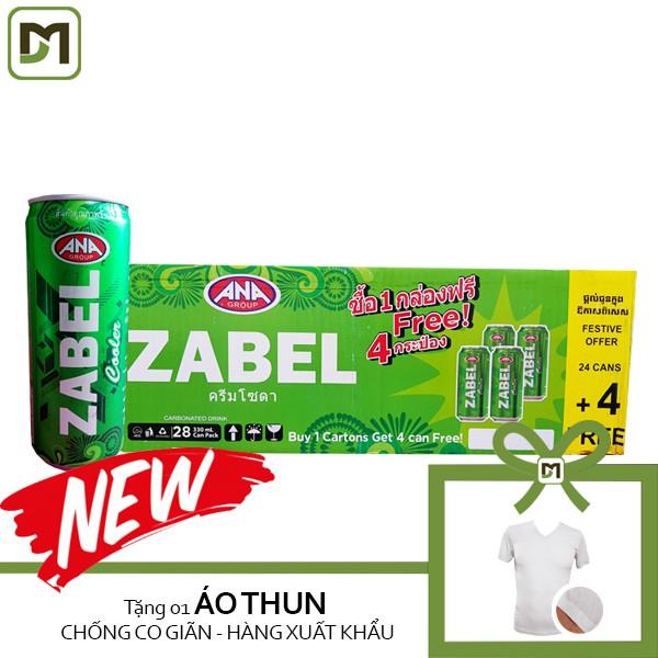Thùng 28 lon x 330ml Nước ngọt có ga ZABEL - Cream Soda Xanh - Tặng Áo thun Nhật xuất khẩu - 3482684 , 1087717565 , 322_1087717565 , 122000 , Thung-28-lon-x-330ml-Nuoc-ngot-co-ga-ZABEL-Cream-Soda-Xanh-Tang-Ao-thun-Nhat-xuat-khau-322_1087717565 , shopee.vn , Thùng 28 lon x 330ml Nước ngọt có ga ZABEL - Cream Soda Xanh - Tặng Áo thun Nhật xuất