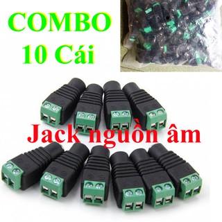 10 jack DC nguồn 12v Âm VẶN VÍT - jack DC Âm VẶN VÍT - jack 12v cái - jack nguồn camera âm