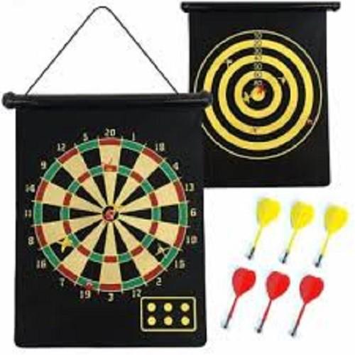 Đồ chơi phi tiêu nam châm 2 mặt, phi tieu nam cham 2 mat (loại to+6 tiêu)