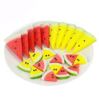 Simulated Watermelon Fake Piece for Decoration Artificial Fruit Decorative Food