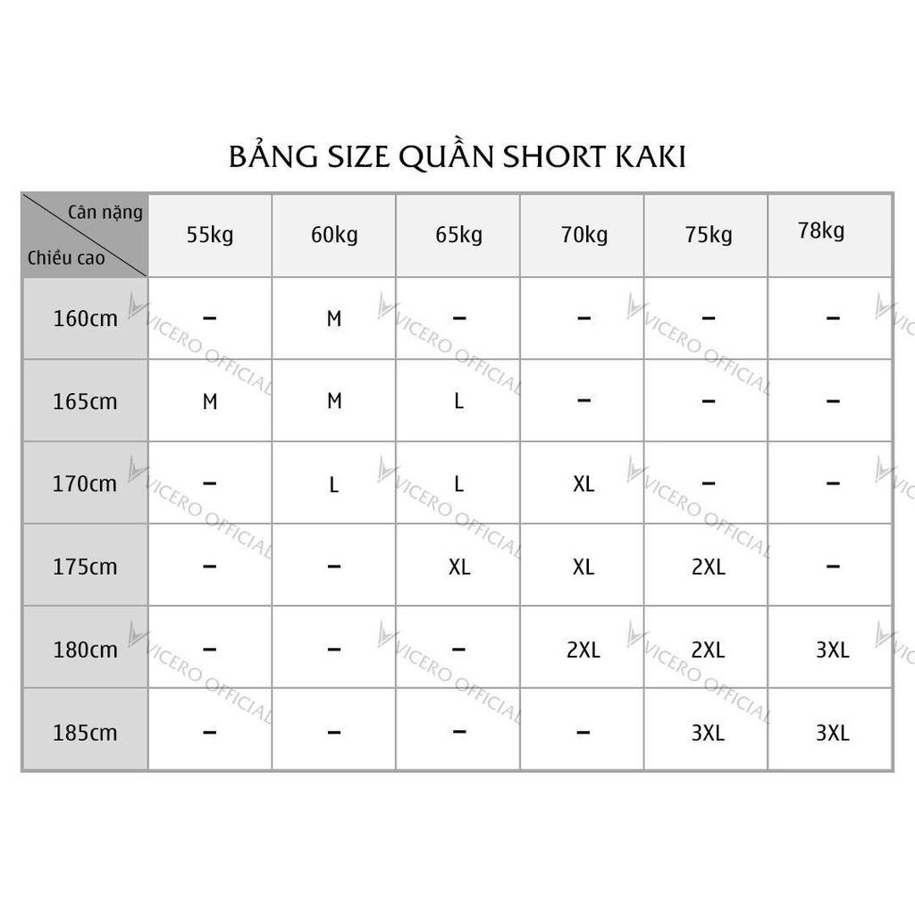 Hình ảnh Quần Short Nam Kaki Mềm Mịn VICERO 6 Màu Trẻ Trung Phong Cách Hàn Quốc-8