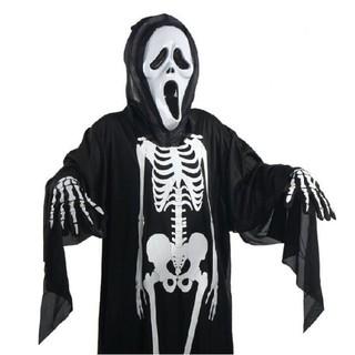 Trang phục hóa trang Halloween. Áo bộ xương, mặt nạ, bao tay-Z988 _hàng bao đẹp