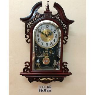 Đồng hồ quả lắc cao cấp G607 KT 54×35×7cm .BH 12 tháng
