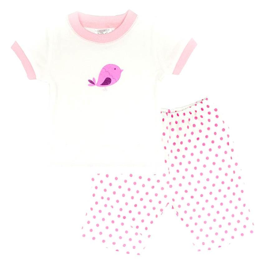 Bộ quần áo bé gái Lullabybaby (Trắng)