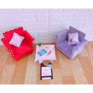 Bàn ghế sofa cho búp bê ( có bán lẻ từng món)