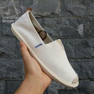 Slip on nam - Giày lười vải nam cao cấp - Vải bố màu trắng ngà (be) - Mã SP 2905 thumbnail