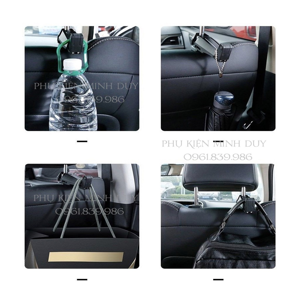Đế giữ điện thoại gắn lưng ghế trước dùng trên xe hơi Baseus Backseat Vehicle Phone Holder Hook