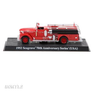1/64th Die-cast Fire Engine Truck Model Toy Seagrave 70th Anniversary Series