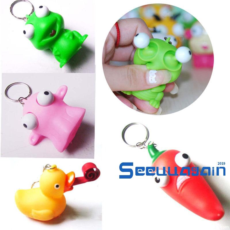 ❥☀✿SEEFunny Anti Stress Ball Cute Fog Vent Balls Squeeze Anti Stress Hand Figure Toys(Random Color)