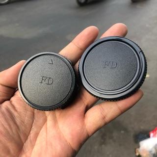 Bộ Cap (Nắp) Body + Cap Đuôi Lens Máy Ảnh Canon Phim Ngàm FD thumbnail