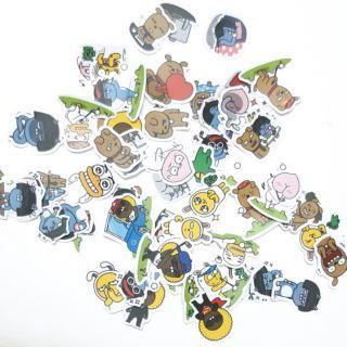 Sticker nhám cán mờ Kakao talk dán trang trí planner, scrapbook,…. size nhỏ 3-5cm