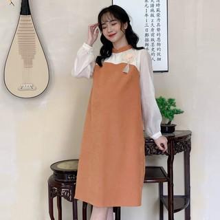 MEDYLA - Váy bầu mùa đông cách tân nhung lỳ mềm mịn cho mẹ bầu diện tết, du xuân - VS402 thumbnail