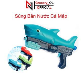 Súng Nước Cá Mập, Cá Sấu, Khủng Long Súng bắn nước đồ chơi trẻ em, phun áp lực xa An Toàn Cho Bé thumbnail