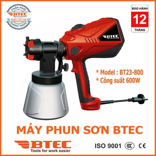 Máy phun sơn mini cầm tay BTEC mã BT 23-800 dùng điện ( kèm ảnh thật )