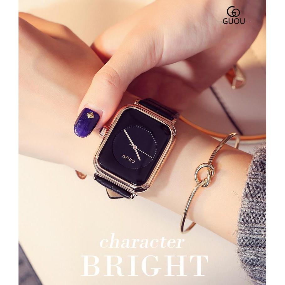 Đồng hồ nữ Guou 8162 thời thượng đẹp ngất ngây