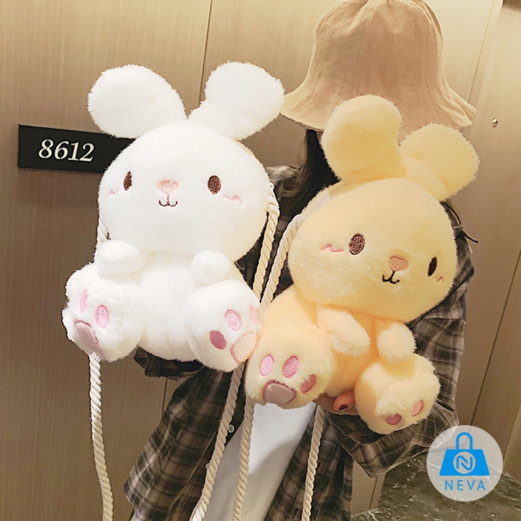 (Mới) Túi đeo chéo thỏ bông xinh xắn NEVA689