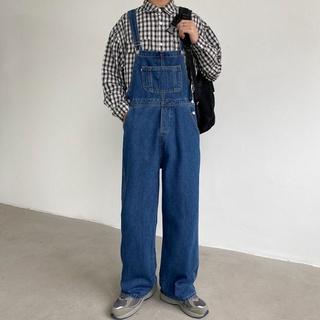 Quần yếm kiểu cao bồi Nhật Hàn thiết kế trẻ trung cho nam