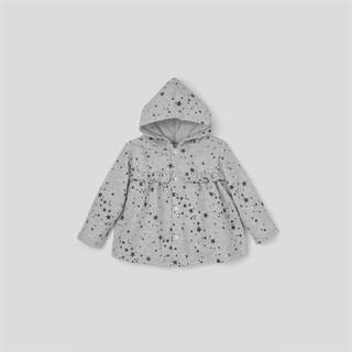 [Mã KIDMALL12 hoàn 15% xu đơn 150K] Áo khoác sơ sinh BAA BABY ngôi sao xám xinh xắn cho bé gái - GN-AK02D-004XA thumbnail