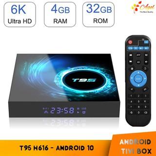 Android tivi box T95 H616 4GB RAM 32GB ROM android 10 mới cài sẵn bộ ứng dụng giải trí miễn phí vĩnh viễn