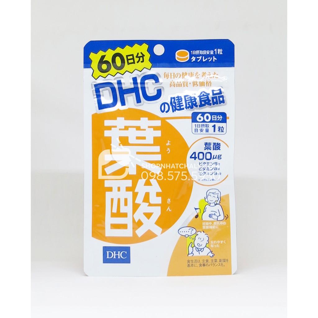 [DATE 3.2021] Viên acid folic cho bà bầu DHC Nhật. Bill mua hàng đầy đủ [GIÁ SIÊU TỐT]