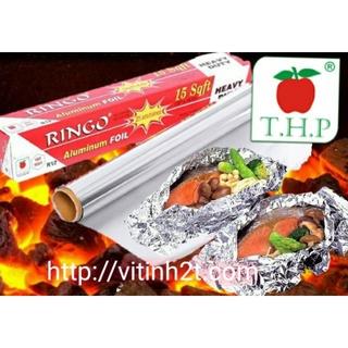 Cuộn Giấy Bạc Nướng Thực Phẩm Ringo R12 khổ 30cm dài 3m thumbnail