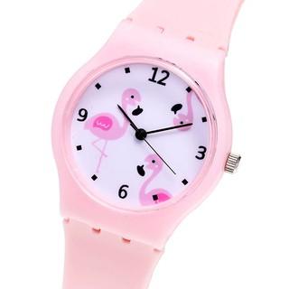 Đồng hồ bé gái dây silicon hình chim hồng hạc cá tính BBShine – DH011