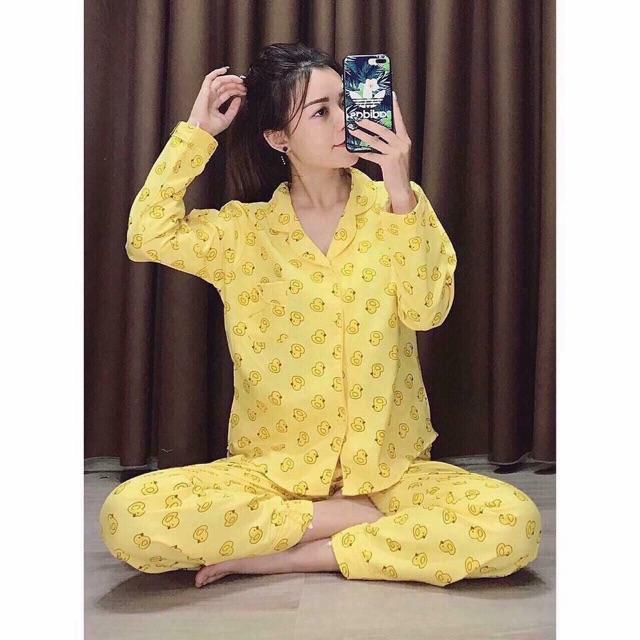 Bộ Pijama Dài Tay fom <60kg ( Quần dài + Áo dài )_