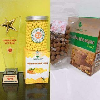 (Tặng kẹo mầm lúa mạch gold 150viên) khi mua 500v Viên tinh nghệ mật ong của thảo mộc37