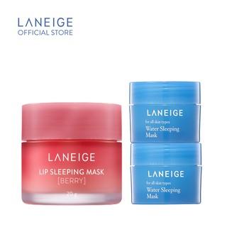 Mặt nạ ngủ dành cho môi LANEIGE Lip Sleeping Mask Berry 20G Tặng 2 mặt nạ ngủ LANEIGE Water Sleeping Mask 15ML