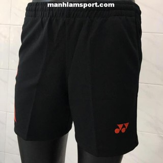 [Ưu đãi] Quần thể thao nữ Yonex Q10 Đen viền Đỏ chất vải mát, co dãn tốt, thấm mồ hôi bán chạy . [ ĐẶT NHANH ]