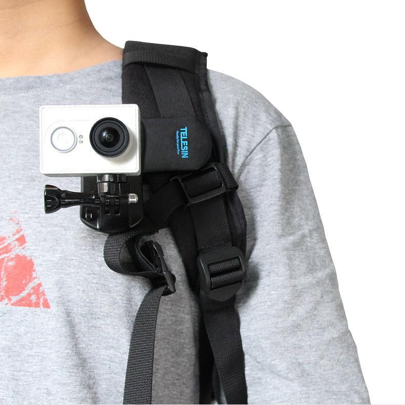 Kẹp dây Balo gắn GoPro 6 Telesin