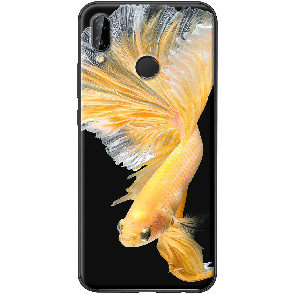 Ốp lưng nhựa dẻo Huawei Nova 3E Cá betta vàng