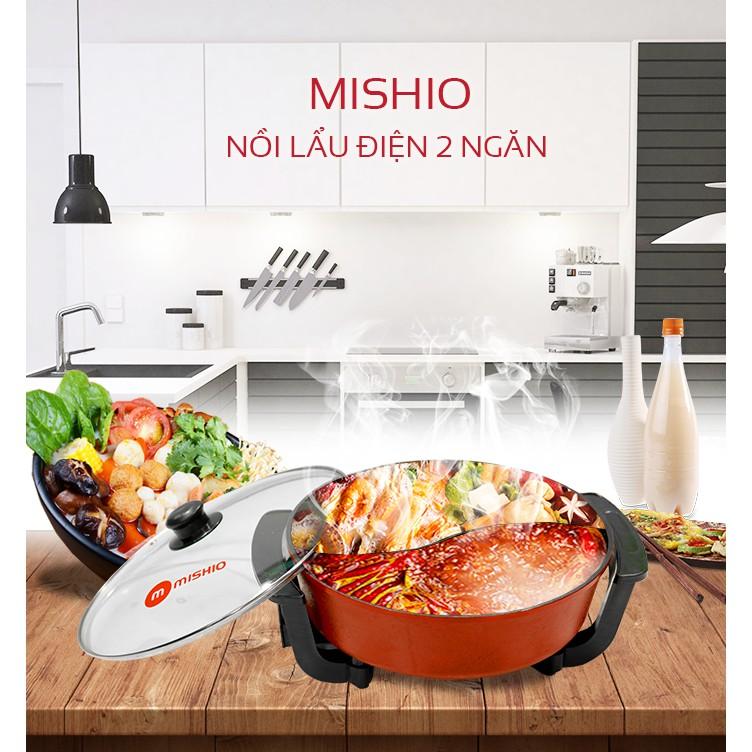 Nồi lẩu điện 2 ngăn Mishio MK-112 (7 lít)