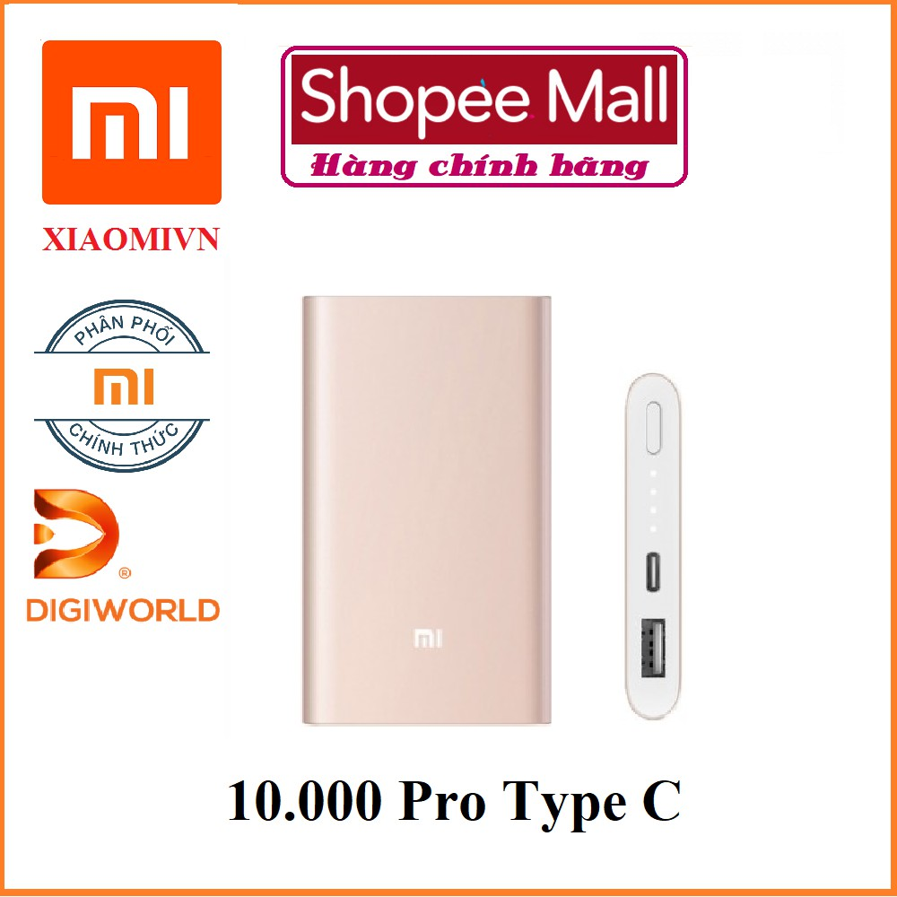 [ Chính hãng Digiworld ] Pin sạc dự phòng Xiaomi 10000 mAh Pro Type C - 2586460 , 104072645 , 322_104072645 , 499000 , -Chinh-hang-Digiworld-Pin-sac-du-phong-Xiaomi-10000-mAh-Pro-Type-C-322_104072645 , shopee.vn , [ Chính hãng Digiworld ] Pin sạc dự phòng Xiaomi 10000 mAh Pro Type C