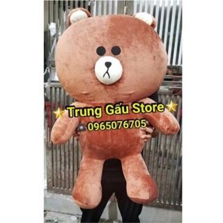 (100% Ảnh thật ) Gấu bông brown 1m1 khổ vải Cao Cấp (Rẻ Vô Địch) cao 95 cm-FREESHIP