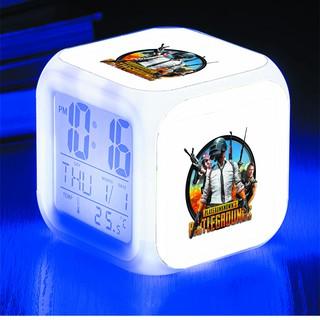 Đồng hồ báo thức để bàn in hình PlayerUnknown's Battlegrounds game LED đổi màu