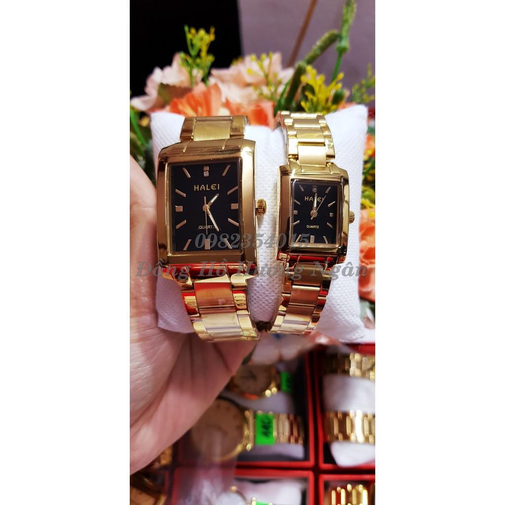 Đồng hồ đôi Halei mặt chữ nhật chống nước ca