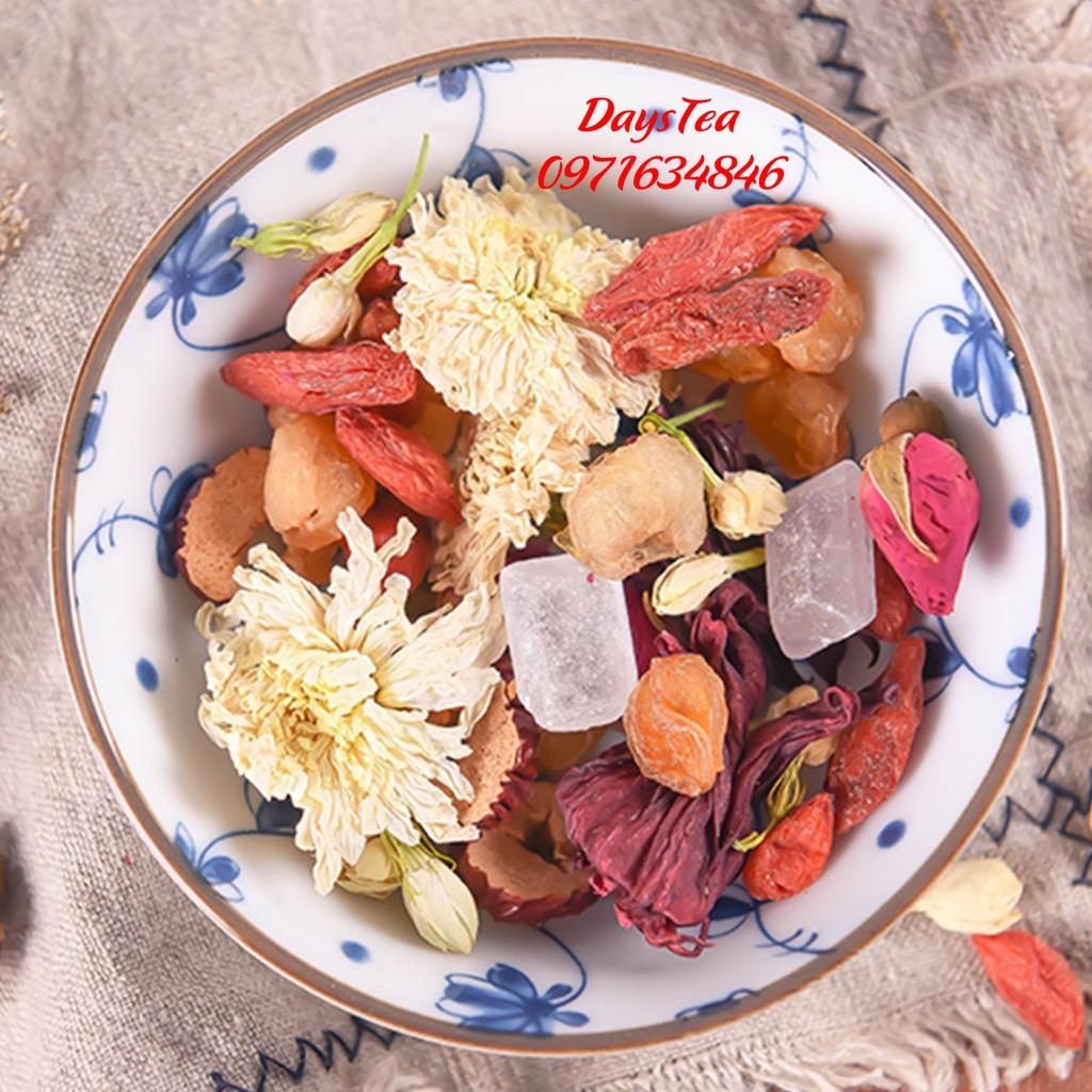 Trà Bát Bảo - Bổ khí huyết, dưỡng nhan, đẹp da, thanh nhiệt, lợi phế, giải độc gan - Trà thảo mộc DaysTea